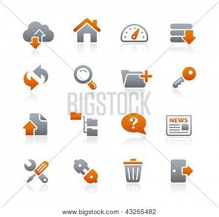 FTP & Hosting Icons // Graphite Series