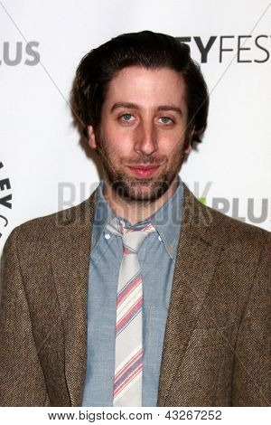 "LOS ANGELES - MAR 13:  Simon Helberg arrives at the  ""Big Bang Theory"" PaleyFEST Event at the Saban Theater on March 13, 2013 in Los Angeles, CA"