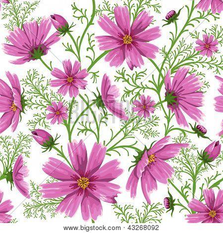 Fondo floral transparente con hermosas flores rosa