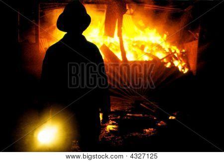 Fireman Shing Torch