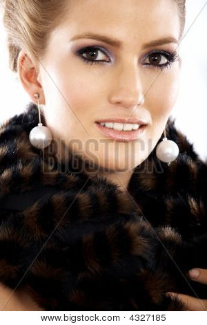 Elegant Woman Smiling