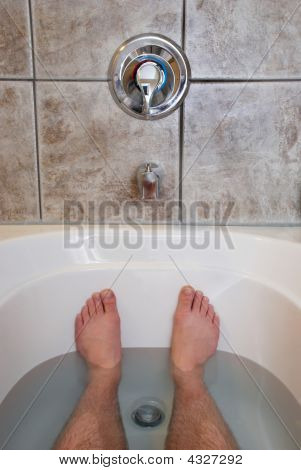 Feet Relaxing In Bathtub