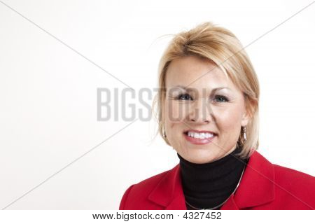 Offset Business Woman Smiling
