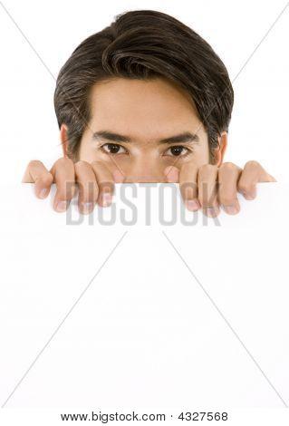 Man Holding An Add