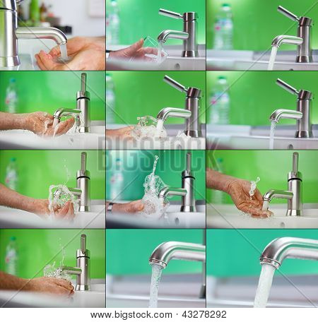 Catching Fresh Water With Hand