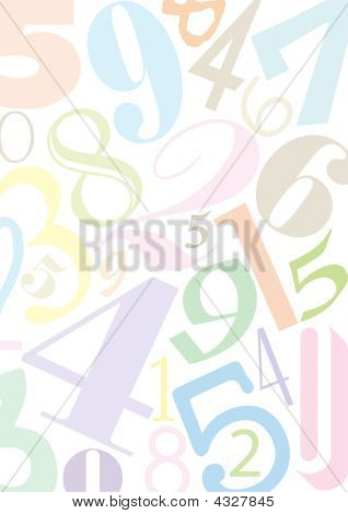 Background With Pastell Numbers