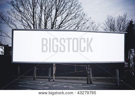 Long Blank Billboard