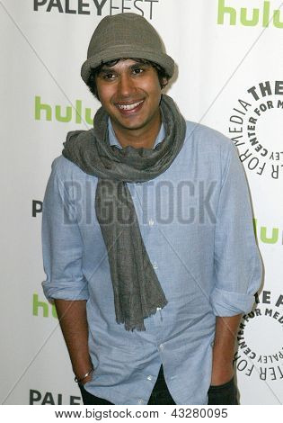 BEVERLY HILLS - MARCH 13: Kunal Nayyar arrives at the 2013 Paleyfest