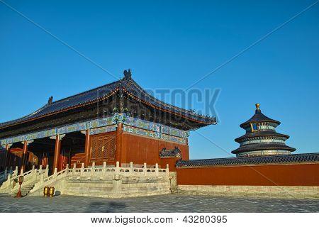 Ancient Buildings In Temple Of Heaven, Beijing