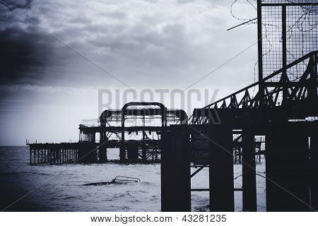 Remains Of Brighton West Pier