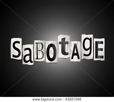 Concepto de sabotaje.
