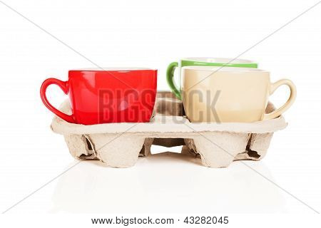coffee cups in cupholder