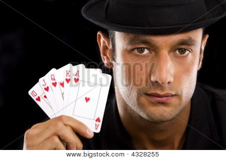 Man With Royal Flush