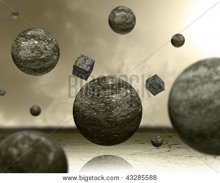 Planets and cubes