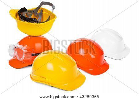 Group Of Hard Hats