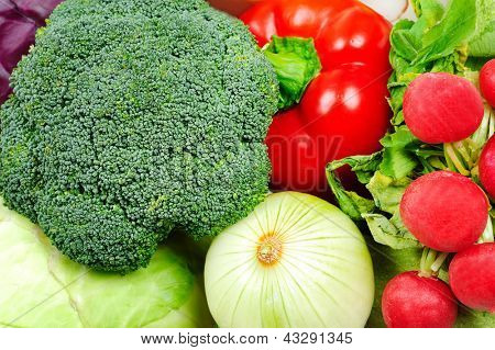 Goup of different raw vegetables
