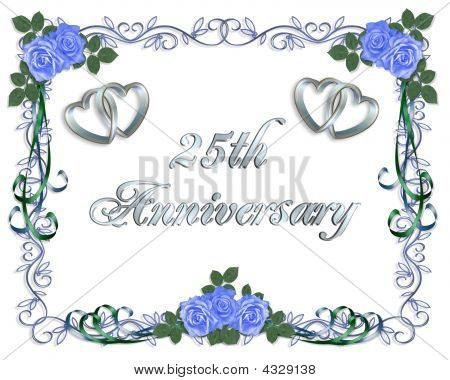25Th Wedding Anniversary Invitation Border
