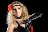 pic of bolero  - Portrait young girl dancing expressive spanish dance - JPG