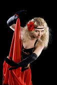 picture of bolero  - Expressive beautiful young dancing classical Spanish dance - JPG