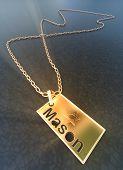 stock photo of illuminati  - Gold badge of the great free Mason - JPG