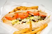 foto of cheesesteak  - A Philly Cheesesteak and an order of French Fries - JPG
