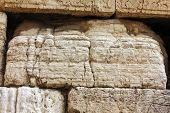 foto of israel israeli jew jewish  - Detail of Western Wall  - JPG