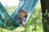 Little Girl On A Hammock