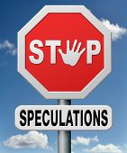 stop speculations taking a gamble on the stock market speculative transaction is a financial risk