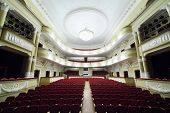 MOSCOW - JANUARY 27: Empty hall in Palace on Yauza on January 27, 2012 in Moscow, Russia. From 1947