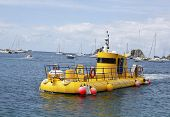 Yellow submarine in Gustavia marina, St. Barths