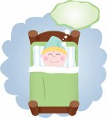 picture of storytime  - Unique Custom Vector Hand Drawn Graphic of a child sleeping and thinking - JPG