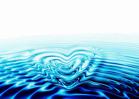 image of valentine card  - whirlpool of love water forming a heart valentine - JPG