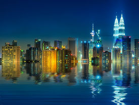 stock photo of klcc  - Kuala Lumpur is the capital and the largest city of Malaysia - JPG