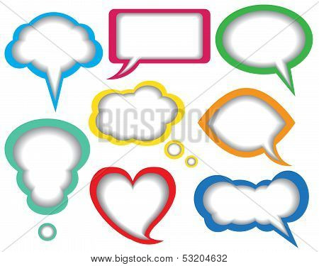 dialogue bubbles