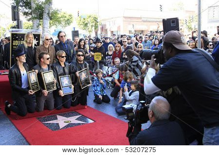 LOS ANGELES - OCT 30: Perry Farrell, Stephen Perkins, Chris Chaney, Dave Navarro as 'Jane's Addiction' was honored with a star on the Hollywood Walk of Fame on October 30, 2013 in Los Angeles, CA