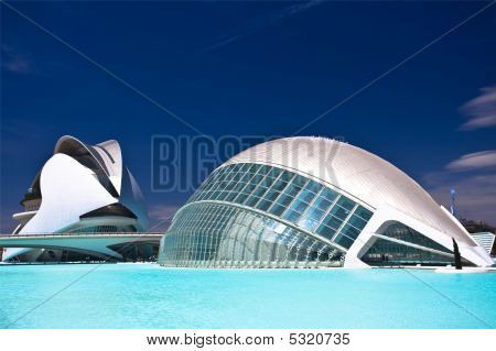 Hemisferic - One Of The Buildings Of The City Of Arts And Sciences
