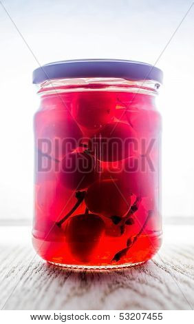 Jar of Maraschino Cherry