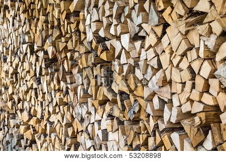 Firewood Stacked