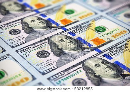 New 100 US Dollar banknotes