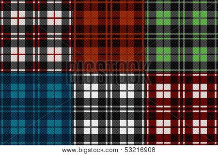 Six Seamless Checkered Patterns