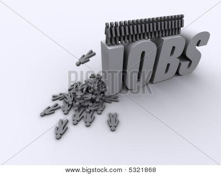 No Jobs Unemployment Scrapheap