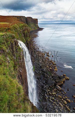 Kilt Rock waterfall, Isle of Skye, Scotland, UK