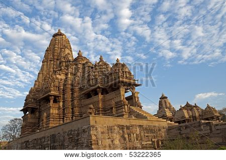 Kandariya Mahadeva Temple, Western Temples Of Khajuraho, India - UNESCO world heritage site.