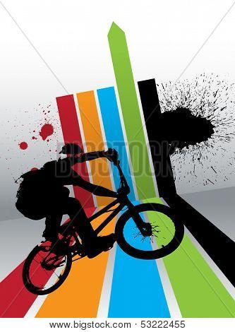 Biker. Vector illustration