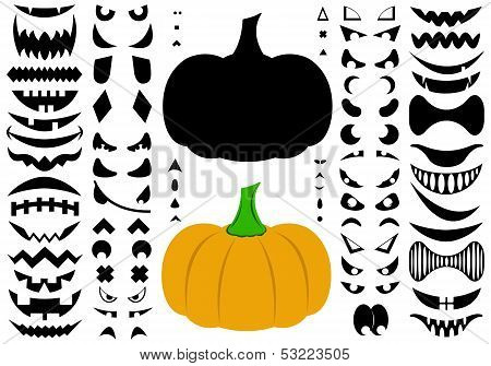 Illustration of Halloween pumpkins