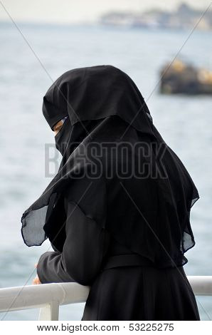 Muslim veiled woman