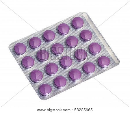 Medicine Pills Packed In Blisters