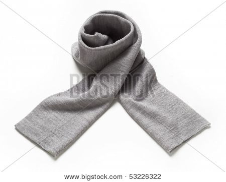 gray scarf isolated on white
