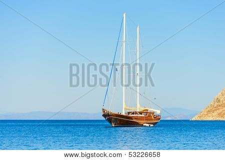 Sailing Ship At Anchor