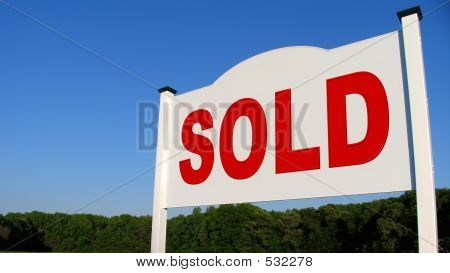 Real Estate Sold Sign